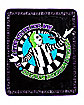 Reversible Beetlejuice Fleece Blanket