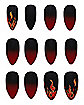 Devil Flame Press on Nails