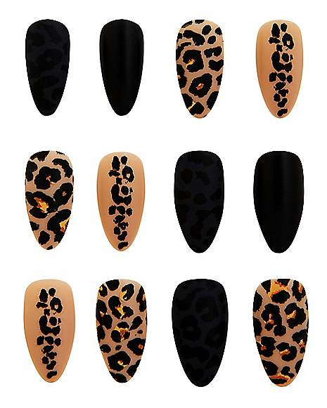 Leopard Print Press On Nails - Spirithalloween.com