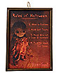 Rules of Halloween Sign - Trick 'r Treat