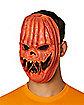 Light-Up EL Wire Pumpkin Half Mask