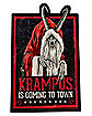 Krampus Is Coming To Town Sign