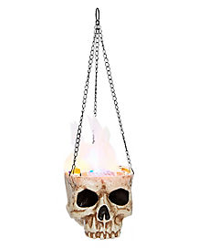 LED Hanging Skull Flame Light