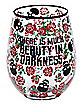 Beauty in Darkness Stemless Glass  - 22 oz.