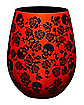 Skulls and Roses Stemless Glass - 22 oz.