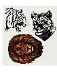 Big Cat Temporary Tattoos