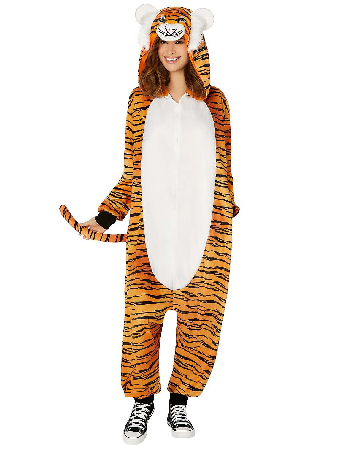 adult tiger pajama costume