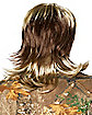 Blond Mullet Wig With Mustache