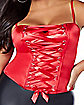 Red Lace-Up Corset