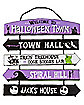 Halloween Town Ladder Sign - The Nightmare Before Christmas