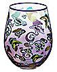 Purple Printed Stemless Glass 22 oz. - Beetlejuice