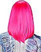 Pink Side Bangs Wig