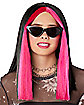 Pink and Black Money Piece Wig