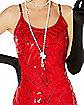 Adult Red Sequin Flapper Dress