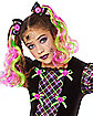 Kids Neon Broken Doll Costume
