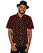 Pumpkin Print Button Down Shirt