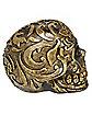 Gothic Noir Gold Skull