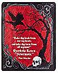 Gothic Noir Edgar Alan Poe Fleece Blanket