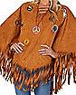 Adult Free Spirit Poncho Hippie Costume