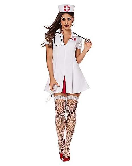 c17af2bc5a977 Adult Say Ahhh Nurse Costume - Spirithalloween.com