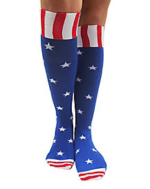 American Flag Knee High Socks