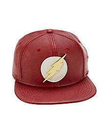 Faux Leather The Flash Snapback Hat - DC Comics