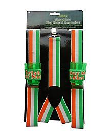 Irish Flag Shot Glass Suspenders