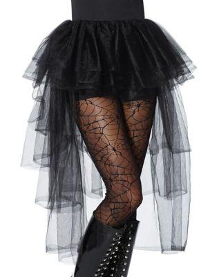 Steampunk Skirts   Bustle Skirts, Lace Skirts, Ruffle Skirts Black Hi-Lo Tulle Skirt by Spirit Halloween $24.99 AT vintagedancer.com