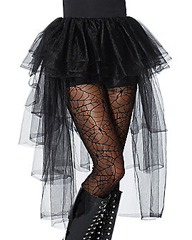 Black Hi-Lo Tulle Skirt