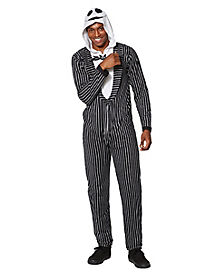 Adult Hooded Jack Skellington Pajama Costume - The Nightmare Before Christmas