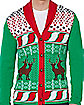 Humping Reindeer Cardigan Ugly Christmas Sweater