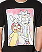 Neon Rick and Morty T Shirt
