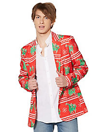 Humping Reindeer Ugly Christmas Suit Jacket