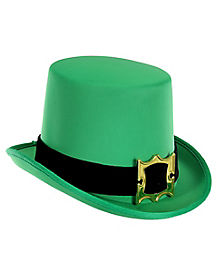 St. Patrick's Day Green Top Hat with Buckle