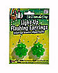 Flashing Light Up Shamrock St. Patrick's Day Earrings