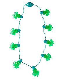 Light Up Shamrock St. Patrick's Day Necklace