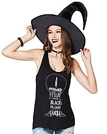 Black Flame Tank Top - Hocus Pocus