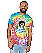 Happy Accidents Tie Dye Bob Ross T Shirt