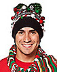 Christmas Pom Beanie Hat