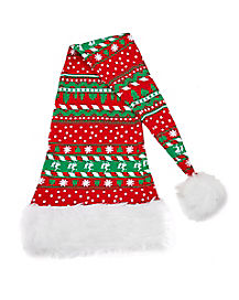 Reindeer Long Knit Santa Hat
