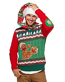 Light Up Humping Gingerbread Ugly Christmas Sweater