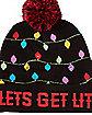 Light Up Let's Get Lit Beanie Hat