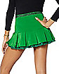Green Glitter St. Patrick's Day Mini Skirt