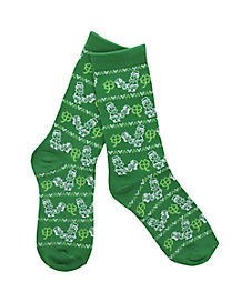Humping Leprechaun Crew Socks