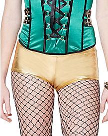 Gold Shamrock Booty Shorts