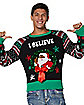 I Believe Black Santa Ugly Christmas Sweater