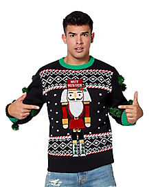 Nut Buster Ugly Christmas Sweater