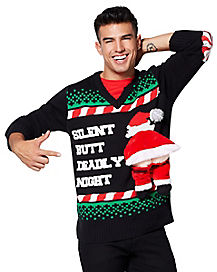 Silent Butt Deadly Ugly Christmas Sweater