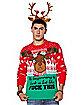 Light-Up Angry Reindeer Ugly Christmas Sweater