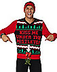 Light-Up Kiss Me Under the Mistletoe Ugly Christmas Sweater